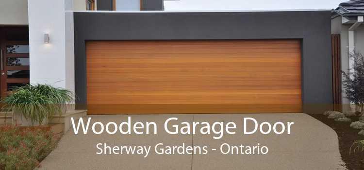 Wooden Garage Door Sherway Gardens - Ontario