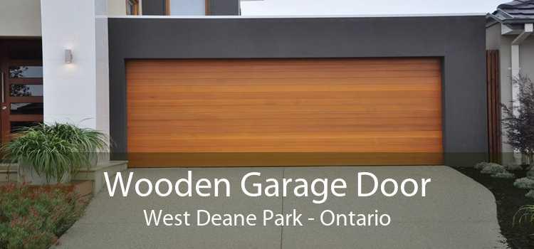 Wooden Garage Door West Deane Park - Ontario