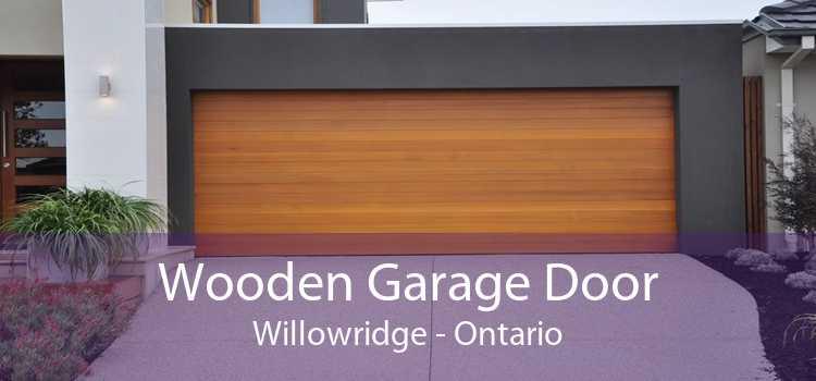 Wooden Garage Door Willowridge - Ontario